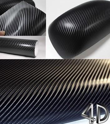 4D prostorová carbonová černá fólie samolepicí 150x180cm