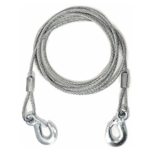 Ocelové lano s háky pro vyproštění vozidel, 4 metry průměr 8mm