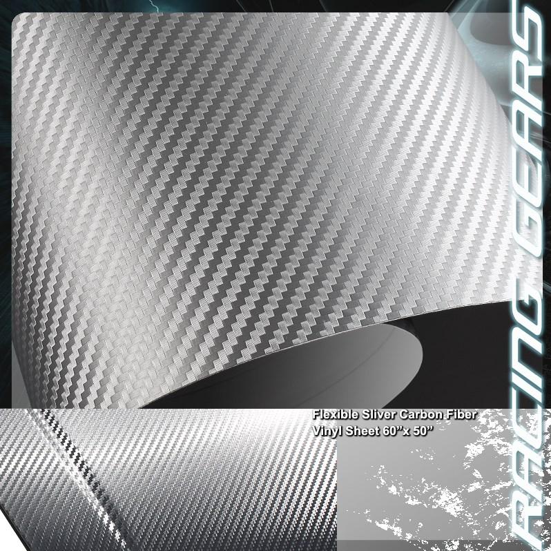 Carbonová fólie stříbrná šedá 3D plastická 150x180cm