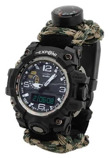 Vodotěsné outdoorové hodinky s teploměrem WATERPROOF