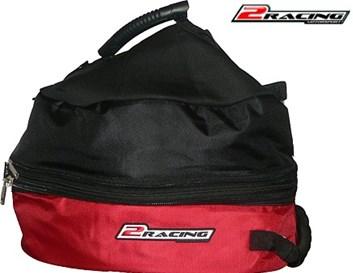 Taška na přilbu karting moto rally černo červená