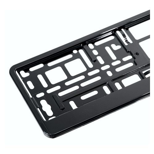 Podložka pod SPZ, rámeček pro SPZ, černá lesklá metalíza 1ks