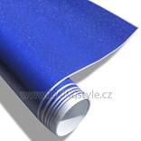 Fólie modrá matná na Slunci třpytivá metalická 150x180cm samolepící
