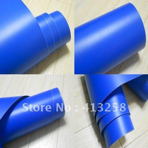 Fólie modrá matná plastická 150x180cm samolepící velká