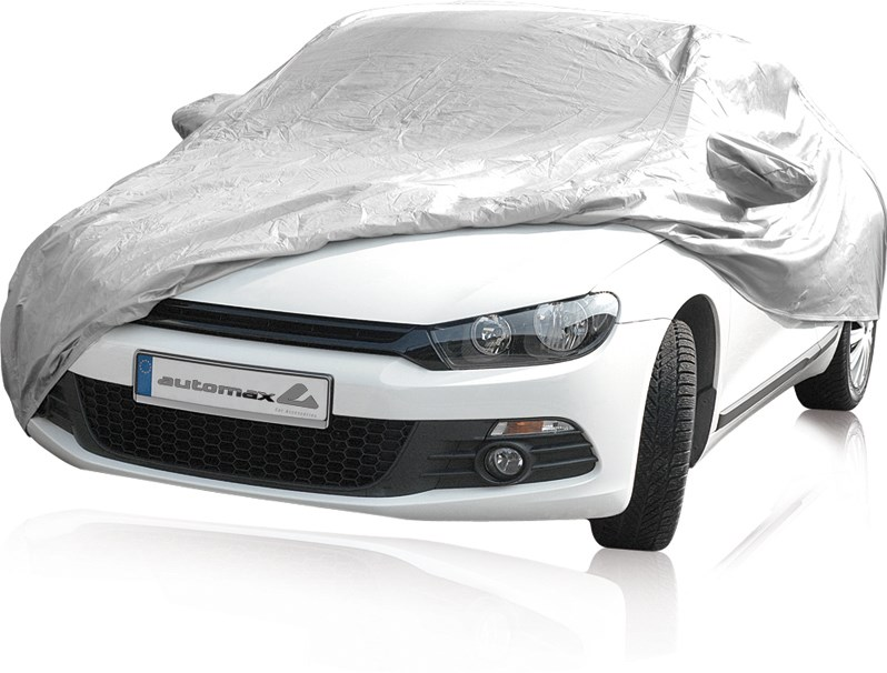 Anatomická plachta na auto stříbrná 100% nylon nepromokavá vel.S