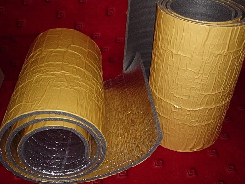 Protihluková a tepelná izolace samolepicí s ALU fólií - 5 mm