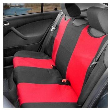 Autopotahy TRIKO zadní červené s černou Premium kus