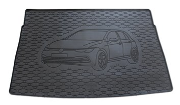 Vana do kufru gumová VW Golf 8 Hatchback od r.v. 2020 s logem auta
