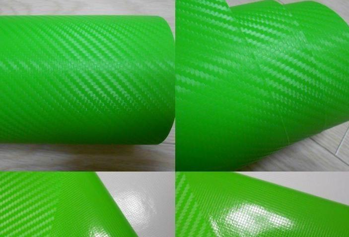 Carbonová fólie zelená 3D 150x180cm matná karbon samolep