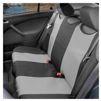 Autopotahy TRIKO zadní šedé s černou Premium kus