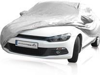 Anatomická plachta na auto stříbrná 100% nylon nepromokavá vel.L