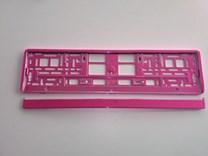 Podložka pod SPZ, rámeček pro SPZ růžová metalíza 1ks