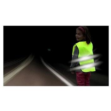 Výstražná vesta reflexní žlutá pro děti 4 - 15 let dle ČSNEN471