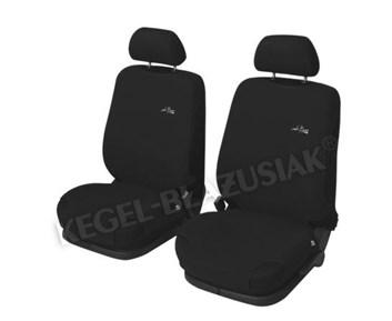 Autopotahy triko černé do auta s bočními AIRBAGY 2 ks