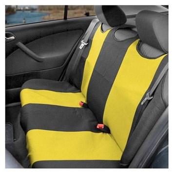 Autopotahy TRIKO zadní žluté s černou Premium kus