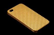 Carbonová fólie zlatá lesklá 3D 150x180cm zářivá samolep