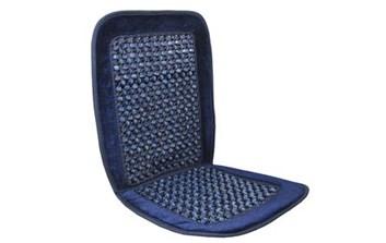 Masážní potah do auta na sedadlo dřevěné korálky modrý