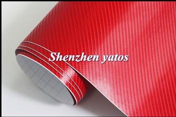 4D prostorová carbonová červená fólie samolepicí 150x180cm