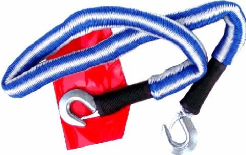 Tažné autolano pružné / elastické s kovovými háky, do 1800 Kg