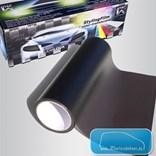 Průhledná barevná fólie na světla Černá průsvitná 150x30cm