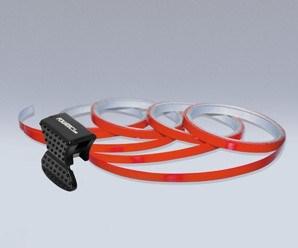 Samolepící proužky na obvod kola Foliatec - červená