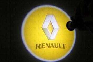 Svítící LED logo RENAULT projekce ze dveří na silnici, sada