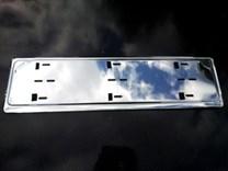 Nerezová podložka pro SPZ, rámeček pod registrační značku auta
