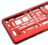 Podložka pod SPZ, rámeček pro SPZ, červená metalíza 1ks