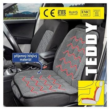 Vyhřívací podložka do auta, potah vyhřívaný i na 12V