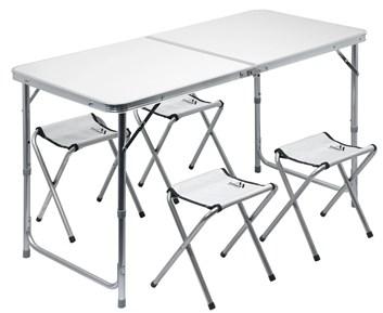 Kempingový stůl DOUBLE + 4x židlička