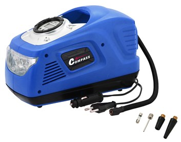 Digitální vzduchový kompresor 12/230V se světlem