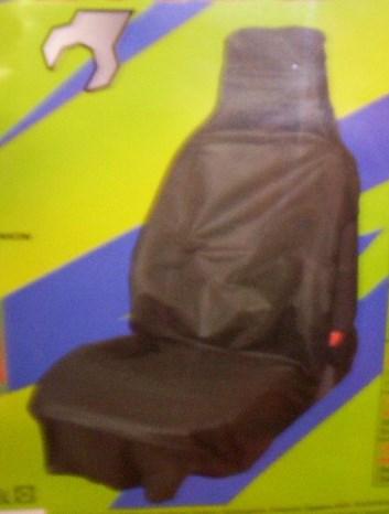 Ochranný potah do auta černý na přední sedačku látkový