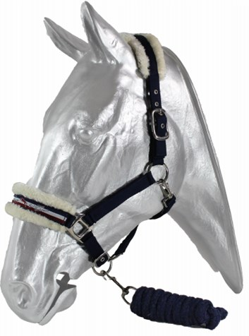 Ohlávka Kentaur s vodítkem, podložení umělý beránek