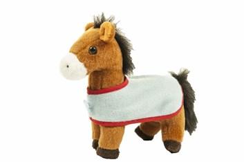 Plyšový koník s dekou