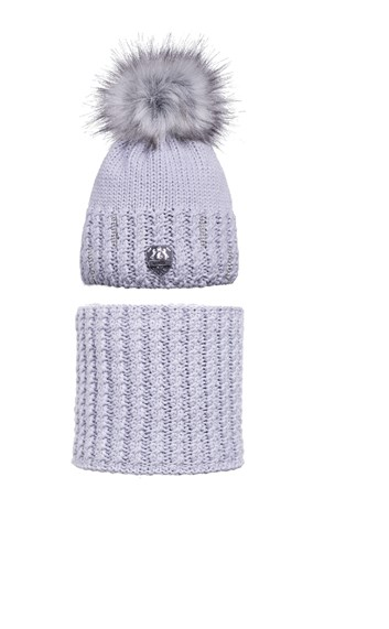 Zimní čepice a šála FairPlay Glow