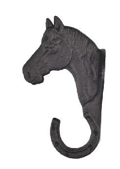 Věšák na uzdečky litinová koňská hlava