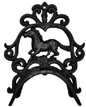 Držák na uzdečku litinový s koněm