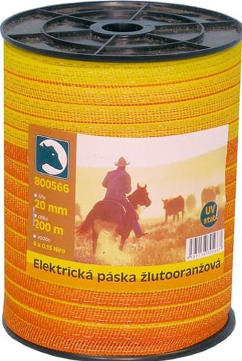 Páska elektrická žlutooranžová 20mm