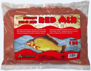 Mikrop Red Mix krmivo pro kapry ptačí zob,konopí 1kg