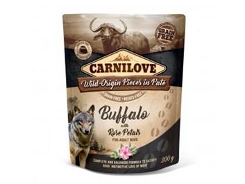 Carnilove Dog Pouch Paté Buffalo with Rose Petals 300g