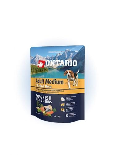 Ontario Adult Medium Fish & Rice - 0,75