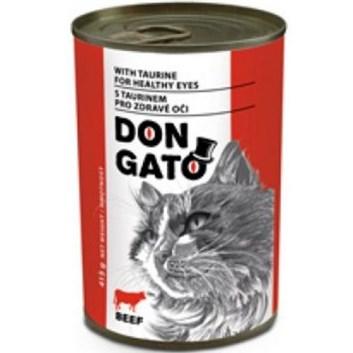 Dongato konzerva kočka hovězí 415g