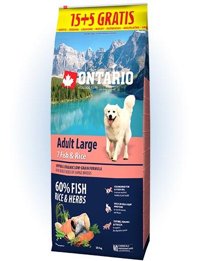 Ontario Adult Large Fish & Rice - 15 + 5kg