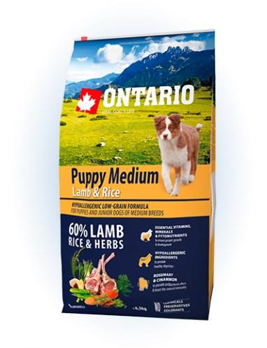 Ontario Puppy Medium Lamb & Rice - 6,5