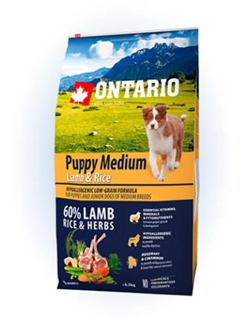 Ontario Puppy Medium Lamb & Rice - 6,5kg