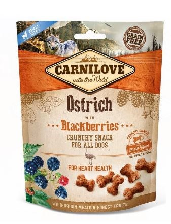 Carnilove Dog Crunchy Snack Ostrich & Blackberries 200g