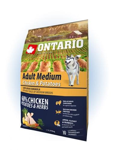 Ontario Adult Medium Chicken & Potatoes - 12KG - 2,25