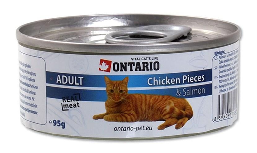 ONTARIO konzerva Chicken Pieces + Salmon 95 g