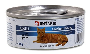 ONTARIO konzerva Chicken Pieces + Salmon 95g