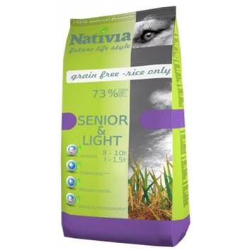Nativia Senior&Light - Chicken&Rice 15 kg